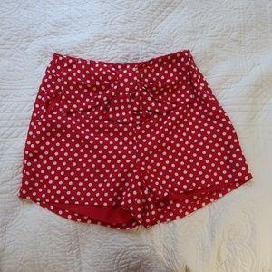 Lauren Conrad Mini Mouse Polka Dot Shorts Bow